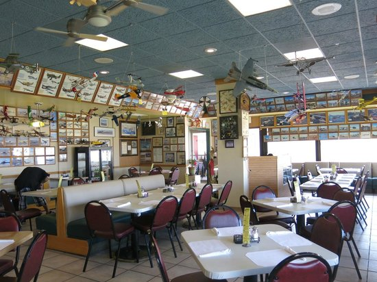 Spitfire Grill Airfield Diner: More planes inside than out
