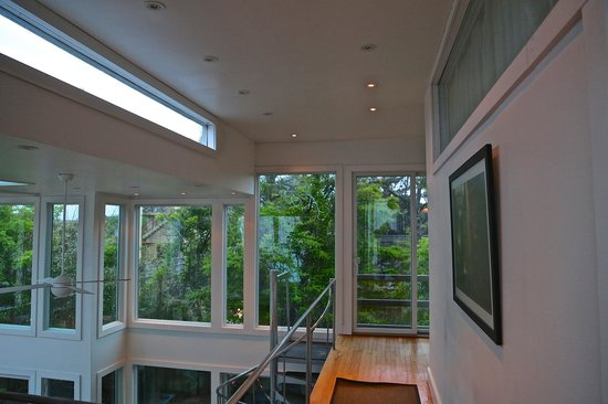 The Madison Fire Island Pines : View from second floor overlooking main living/dining room.