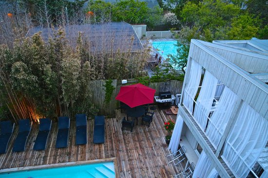 The Madison Fire Island Pines: Pool, hot tub and private cabanas