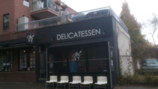 Mile End delicatessen: outside