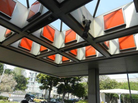 Sheraton Miyako Hotel Tokyo: 1980's Vintage Orange Panels at the entry