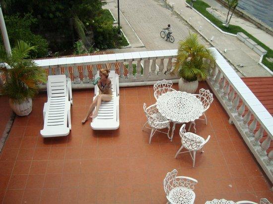 Hotel Villa del Lago: terraza