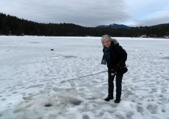 Spring Valley Reservior : Spring Valley - Ice fishing