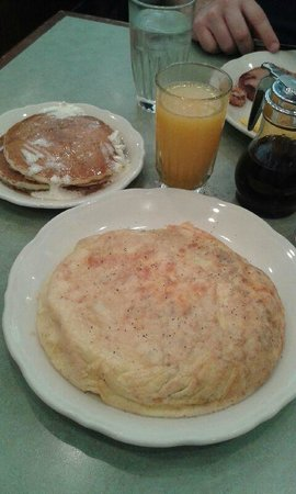 The Original Pancake House: Sausage and Cheese Omelette, Pancakes, Hand Squeezed OJ