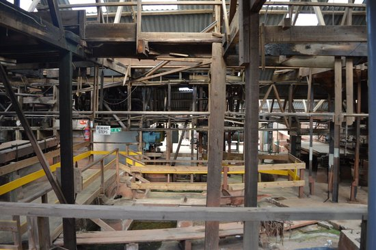 Geevor Tin Mine: A maze of wood