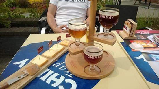 Auberge de Poteaupre : beer and cheese tasting