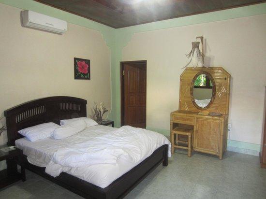 Pondok Bambu: zicht op de kamers