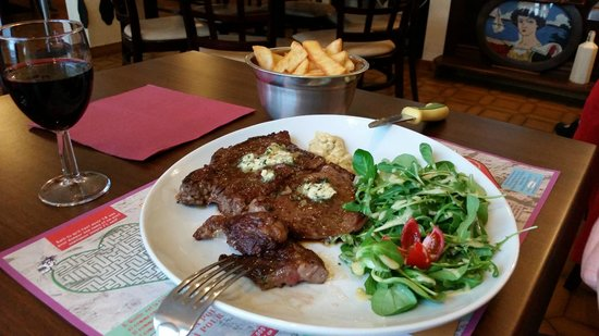 L'Hermine Blanche : steak with butter cooked to perfection