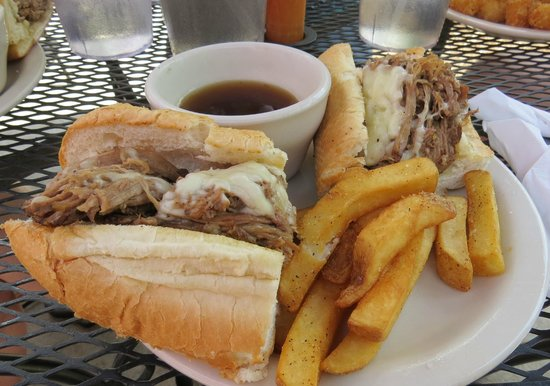 Universal Joint: Brisket dip and fries