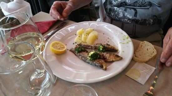 restaurant du port : sardines as an appetizer