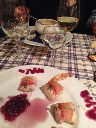 Ostriche & Vino : Involtini di cernia. Deliziosi!