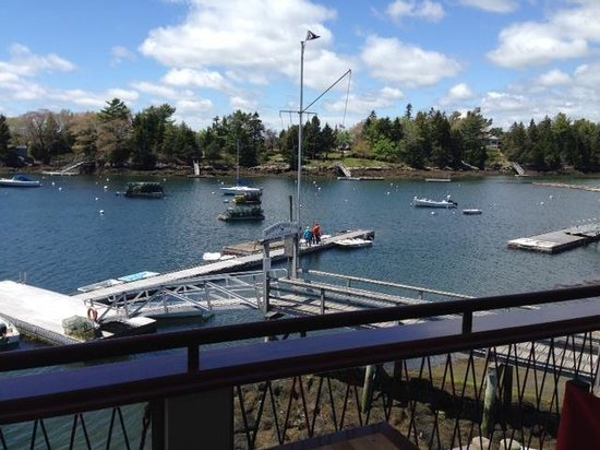 Oliver's at Cozy Harbor: View from the upstairs dining space