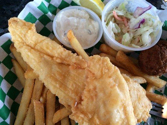 KaCey's Seafood and More : Fried Flounder Basket!