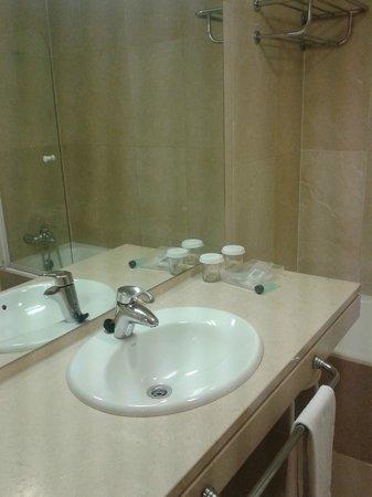 Hotel Palacio de Aiete : El baño con deficiencias