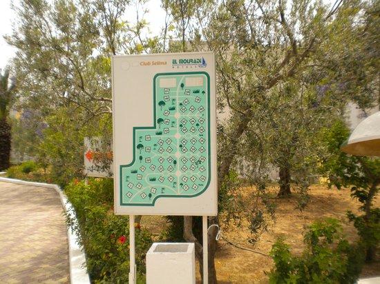 El Mouradi Club Selima : répertoire des chambres dans le parc