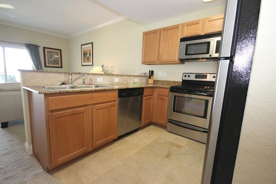 Palms of Treasure Island: Full Kitchens with Stainless Appliances and granite