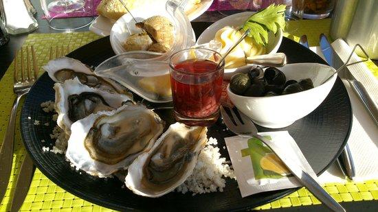 Hôtel Spa du Beryl : Voorgerecht Fruit de mer