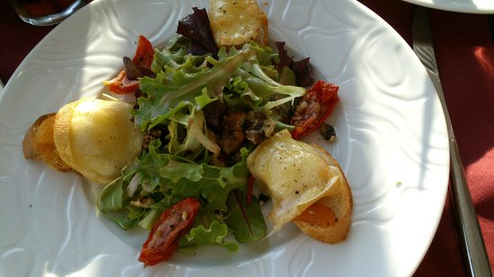 Hôtel Spa du Beryl : gedroogde perziken met kaas van Nantes