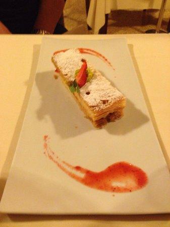 Alla Veneziana: Millefoglie con crema di zucchine.