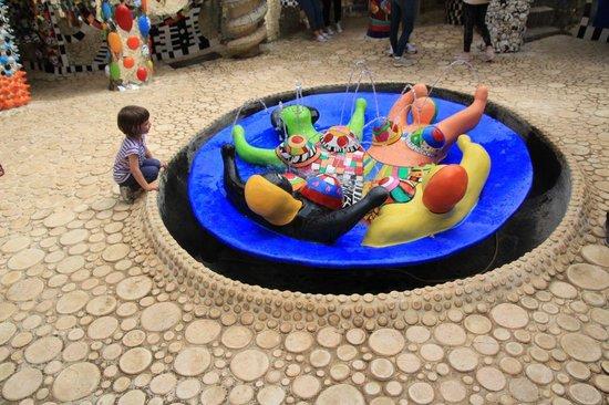 Giardino dei Tarocchi : I bambini rimangono incantati...