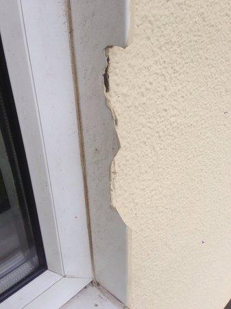 Broken sharp edges on door frame!! - Picture of Pontins Brean Sands ...