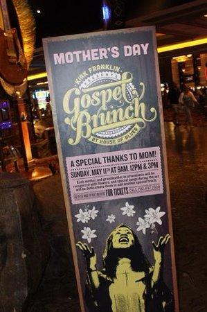 House of Blues : Gospel Brunch