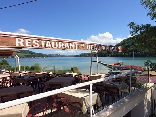 Restaurant Beau Rivage: vue lac