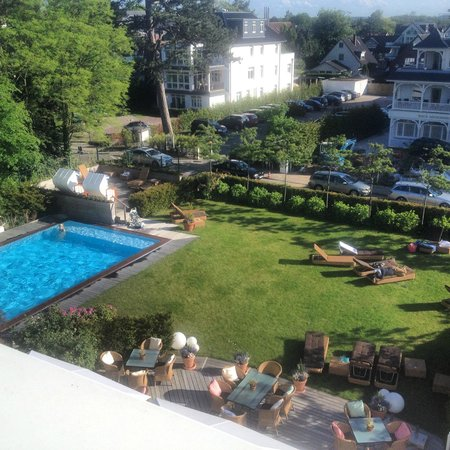 Grand Hotel Seeschlösschen SPA & Golf Resort: dejlig og hyggelig have