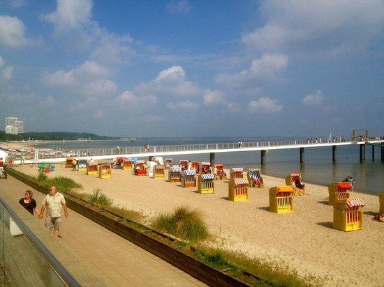 Grand Hotel Seeschlösschen SPA & Golf Resort: dejlig strand ved Østersøen