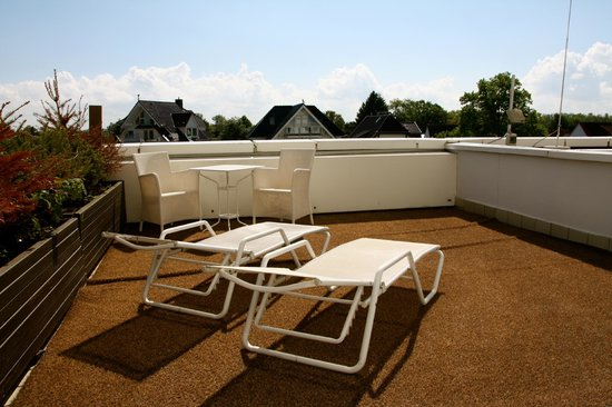 Grand Hotel Seeschlösschen SPA & Golf Resort: vores dejlige terrasse
