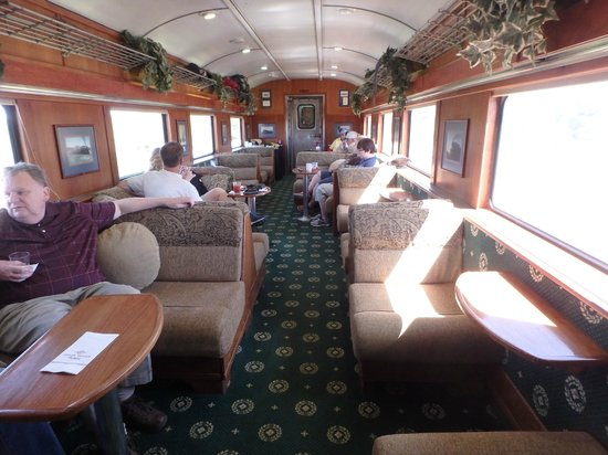 the chief luxury parlor car interior picture of grand canyon railway williams tripadvisor. Black Bedroom Furniture Sets. Home Design Ideas