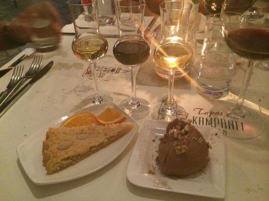 Tapas Bar Kampanel: Dessert and drinks