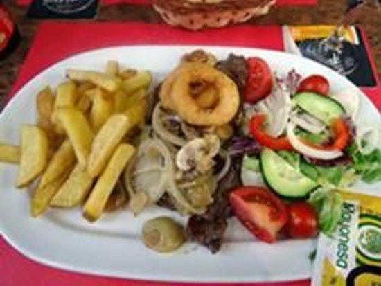 the bell tavern: Sirloin Steak... farewell meal!