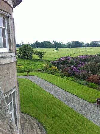Ballinkeele House: view from bedroom