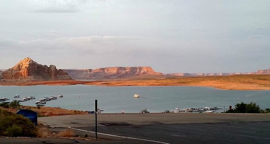 Lake Powell Resort : Sunset from Wahweap Grill