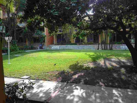 Hotel Posada de Tampico: Vista al jardin desde la habitacion
