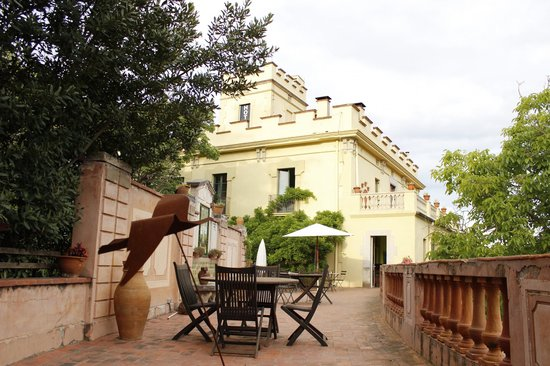 Els Jardins de la Martana: la terraza