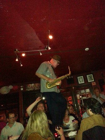 Johnny Hooper's Saxophone Bistro : Table top sax!