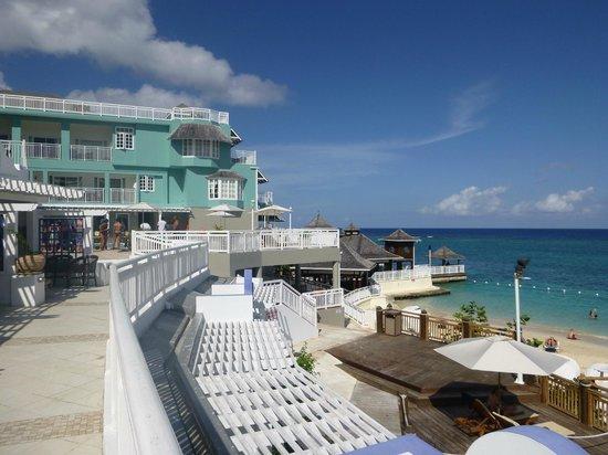 Beaches Ocho Rios Resort & Golf Club: Balcony area at our room