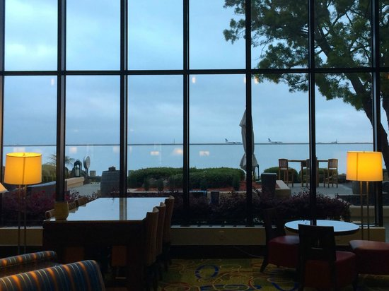 San Francisco Airport Marriott Waterfront : View from the lobby, many rooms