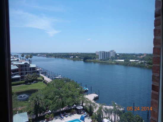 Westin Tampa Harbour Island: View of channel & Davis Island