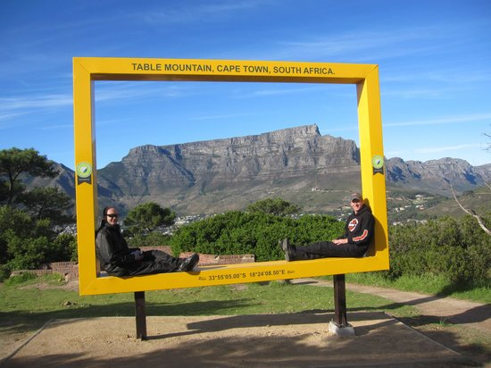 Cape Bike Travel and Motorbike Rental and Tours: Chilling on top of Signal Hill