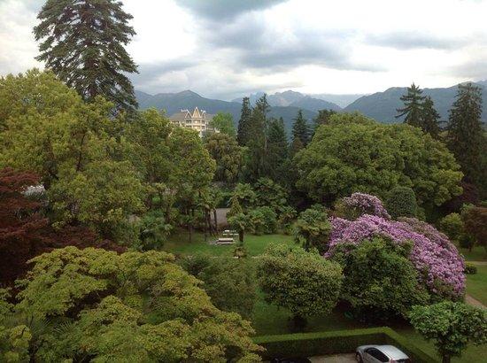 Hotel Simplon: Garden view from corner balcony