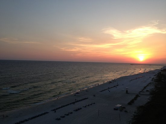 Majestic Beach Towers: Sunset from balcony