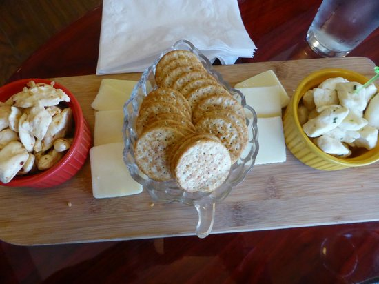 Coyote Moon Vineyards: cheese assortment