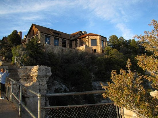 Grand Canyon Lodge - North Rim: The grand room and dining hall from outside