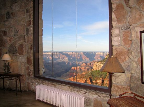 Grand Canyon Lodge - North Rim: View from inside grand room