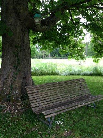 Château de Cormatin: My picnic bench in the rain