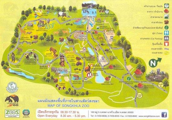 Songkhla Zoo : zoo map