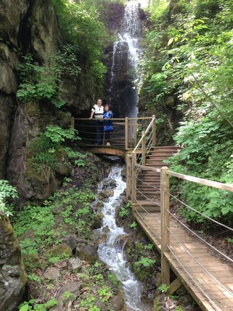 Foxfire Mountain Adventures: Waterfall at end of the trail